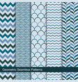 zigzag wavy geometric seamless patterns vector image vector image