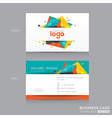 Abstract Business card Design Template vector image