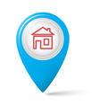 The house symbol on the map index vector image