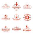 restaurant logos templates objects set vector image