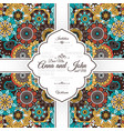 card with vintage floral decorative pattern vector image