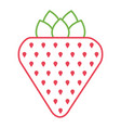 strawberry fruit fresh tasty delicious icon vector image