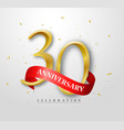 30 years happy anniversary banner celebration vector image vector image