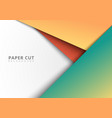 3d abstract colorful geometric paper cut style vector image