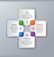 4 steps modern infographic vector image vector image
