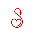 abstract letter s heart symbol icon logo concept vector image