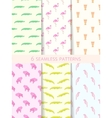 African Seamless Patterns Set vector image vector image