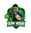 aim high vector image