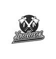 american football logo emblem usa sports badge in vector image vector image