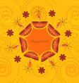 artistic diwali background vector image vector image
