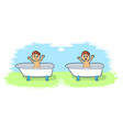Bath Time for Cartoon Boy vector image
