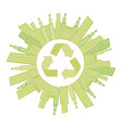 beage city with build and help environment icon vector image