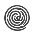black ID fingerprint vector image vector image