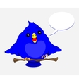 blue bird vector image