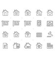 building and real estate icons vector image
