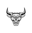 bull taurus bison buffalo logo vector image vector image