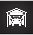 car wash icon on black background for graphic and vector image