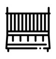 cot babed icon outline vector image vector image