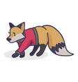 cute fox cartoon with sweater vector image vector image
