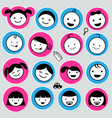 cute kids icons set vector image vector image