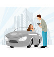dating of man and woman vector image