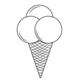 delicious outline icecream vector image