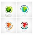 Earth company logo design vector image