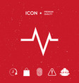 ecg wave - cardiogram symbol medical icon vector image