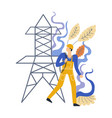 electrician professional male expert in vector image vector image