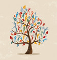 family tree concept with people icon vector image vector image