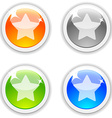 Favorite buttons vector image vector image