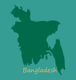 flag and map of bangladesh vector image vector image