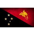 Flags Papua New Guinea with dirty paper texture vector image