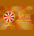 fortune wheel try to win in spin game vector image vector image