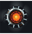 futuristic engine atom energy reactor vector image vector image
