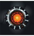 futuristic engine atom energy reactor vector image