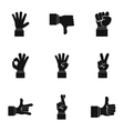 Gestural icons set simple style vector image vector image