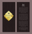 golden label sample and text vector image vector image