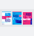 graphic design geometry shape blue layout vector image vector image