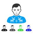 happy deers pullover boy icon vector image