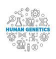 human genetics round concept outline vector image vector image