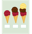 Ice-cream set vector