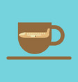 icon in flat design for airport cup of coffee vector image vector image