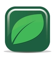 icon with the image of a tea leaf vector image vector image