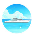 image a white-cruise liner on sea vector image vector image
