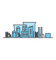 industrial district line icon concept industrial vector image vector image