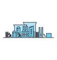 industrial district line icon concept industrial vector image vector image