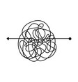 insane tangle thread clew line concept of start vector image