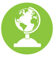 isolated globe icon vector image vector image