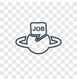 job concept linear icon isolated on transparent vector image vector image